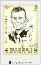 2008-09 Select Cricket Alan Border Medalist Sketch Card BMS4 Adam Gilchrist