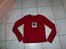 HIVER : T-SHIRT ML ROUGE OOXOO / MARESE, 14 ANS / 160 TBE