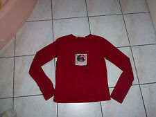 T-SHIRT ML ROUGE OOXOO / MARESE, 14 ANS / 160 TBE