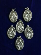 "Saint Anne 1"" Silver Oxidized Medals from Italy, lot 6 pieces, NEW Pristine"