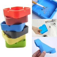 Eco-Friendly Rubber Portable Silicone Soft Smoking Cigarette Ashtray Ash Holder