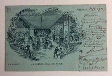 CPA. LA GRANDE ROUE DE PARIS. 75. Illustrateur Coulougnac. Concert Arabe. 1908.