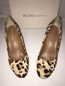 Bcbg Leopard Pumps Size 8.5