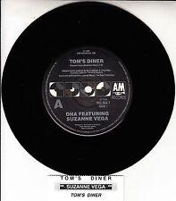 """SUZANNE VEGA & DNA  Tom's Diner 7"""" 45 vinyl record + juke box title strip RARE!"""
