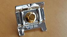>verchromt+vergoldet< Batterie-Halter Golf 4,Polo 6N,Bora_VW R32,GTI >chrom+gold
