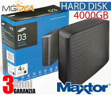 HD ESTERNO MAXTOR 4TB SuperSpeed USB3 HDD Hard Disk MAXTOR 4000GB STSHX-D401TDBM