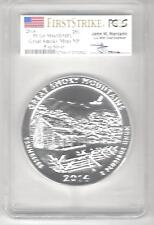 2014 great smoky mtns 69 dmpl  first strike pcgs 5 oz silver  Mercanti signed