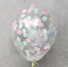 5X Clear Pastel Confetti Transparent Balloons Birthday Wedding Party Decorations