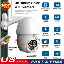 IP66 HD 1080P WI-FI IP Camera Wireless PTZ Outdoor CCTV Home Security IR Webcam