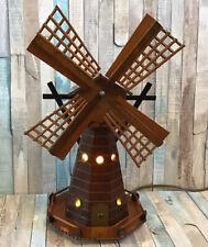 Vintage Wooden Musical Windmill Lamp Baby Child Nursery Night Light