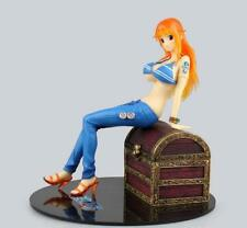 Nautical King ONE PIECE POP Nami Sitting on the treasure chest No Box 19.5cm