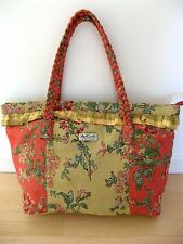 "ISABELLA'S JOURNEY LARGE TAPESTRY CARPET BAG TOTE by APRIL CORNELL 21"" x 13"" VGC"