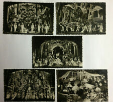 5 anciennes PHOTOS Louis SILVESTRE - FOLIES BERGERE années 40