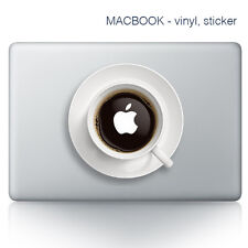 Etiqueta engomada de la laptop MacBook de café | Laptop | Calcomanía Pegatinas-Vinyl-Café de amor