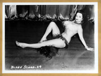 Photo pin up vintage Blaze starr 69 d'Irving Klaw d'apres négatif original 30x40
