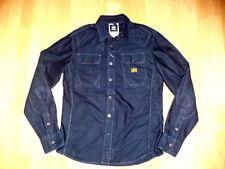S-STAR RAW mens dark navy blue denim fitted shirt top size M Medium