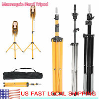Hairdressing Training Mannequin Tripod Clamp Hair Wig Head Display Stand  Tool