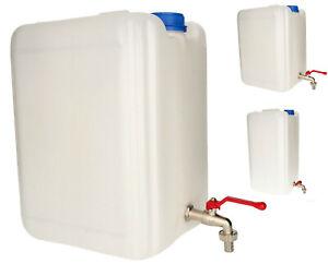 KOTARBAU® Kunststoff Wasserbehälter für Trinkwasser mit Metallzapfhahn 10-30L
