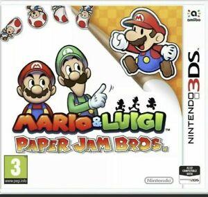 MARIO & LUIGI PAPER JAM BROS. NINTENDO 3DS NEW FACTORY SEALED UK RELEASE