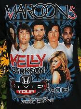 Maroon 5 Kelly Clarkson Civic Tour 2013 Rozzi Crane Sz M Concert T-shirt