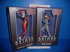 Batman The Animated Series Harley Quinn & Batgirl Femme Fatales Statues New!