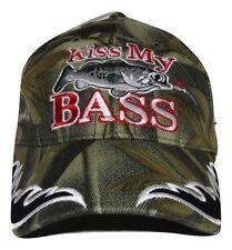 Redneck Hillbilly Kiss My Bass Camo Camouflage fish fishing cap #3 CAP920 Hat