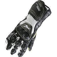 Spada Elite kangaroo Leather motorcycle Gloves Armoured Sport Race Black/White