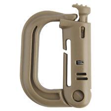 Tactical Rapid Lock / Molle D Ring x1 PC - Grimloc Style Clip DESERT TAN -Kombat