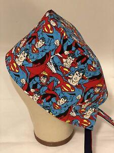Men/Women surgical Scrub cap DC Comic's Superman New Blue/Red/Yellow
