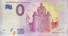 BILLET 0  EURO LA ROCHELLE LA GROSSE HORLOGE  FRANCE 2018 NUMERO 1100