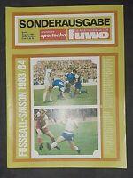 Sportecho Fuwo Sonderausgabe 1983/84 DDR Oberliga FCM BFC Chemie Leipzig Dynamo
