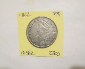 1822 CAPPED BUST HALF DOLLAR LOOKS UNC TO BETTER YOU GRADE EAZ