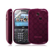 Coque étui housse en gel pour Samsung Chat 335 S3350 couleur Rose Fushia