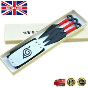 Ninja Darts Headband Set Naruto Konoha Cartoon Kakashi Sasuke Anime Cosplay