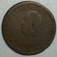 1813 Field Marshal Wellington HALF PENNY TOKEN #SS748