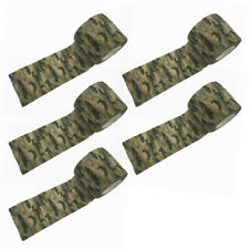 5 Rolls Camouflage Waterproof Stealth Wrap Tape For Rifle Gun Hunting 5CMx4.5M