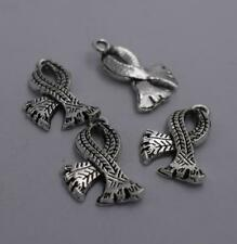 8pcs Antique silver plated beautiful scarf charm pendant T0394