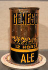 1938 GENESEE OI IRTP  FLAT TOP BEER CAN ROCHESTER NEW YORK NICE COPPER LIDS