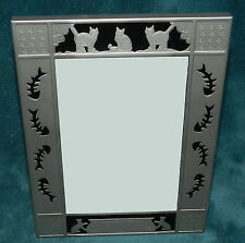 NEW! ADORABLE SILVER & BLACK CAT/FISH PICTURE/PHOTO FRAME!! CAN PERSONALIZE!