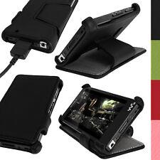 Nero Eco Pelle Custodia Case per Sony Walkman NWZ-F886 F887 + Prot. Schermo