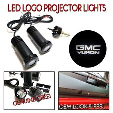2Pc WHITE LED Door Logo Projectors Ghost Shadow Lights for 1999-19 GMC YUKON