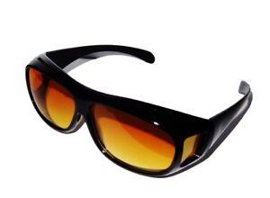 Nachtbrille Überzieh Nachtsichtbrille Nachtfahrbrille auch für Brillenträger