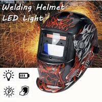Automatik Solar Schweißhelm Schweißerhelm Schweißerbrille mit LED Lampe DE DE