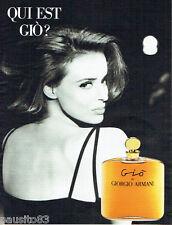 PUBLICITE ADVERTISING  016  1993  GIORGIO ARMANI  parfum femme Gio