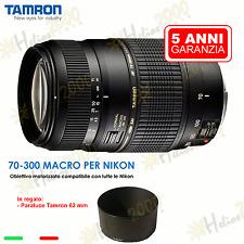 OBIETTIVO TAMRON AF 70-300 mm NIKON D3300 D3200 D3100 D5500 D5200 D5100 D7100