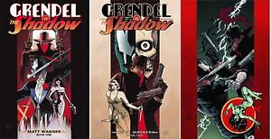 MATT WAGNER GRENDEL vs THE SHADOW 1 2 3 COMPLETE SET!