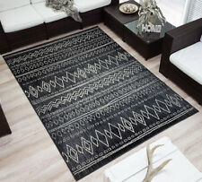 Design Velours Kurzflor Teppich »Sahara« grau gemustert 160x230 cm