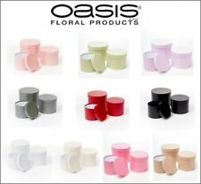 Symphony Lined Oasis® Flower Hat Boxes Set of 3 Various Colours/Style Floristry