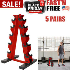 CAP Barbell A-Frame Dumbbell Weight Rack For Home Fitness Workout Gym 5 Pairs