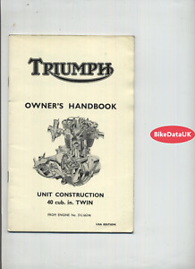 Triumph Unit 650 T120 TR6 (1967) Riders Owners Instruction Manual Hand-Book DT81
